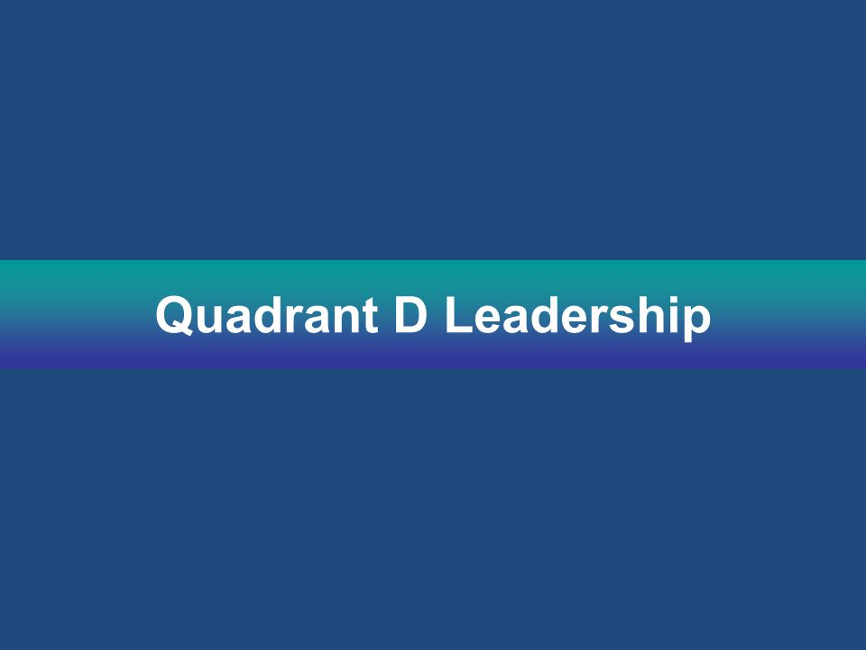 Quadrant D Leadership