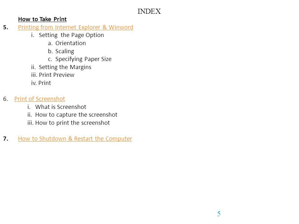 Structure of File & Folder (F&F) on HardDisk 26 Back to Index
