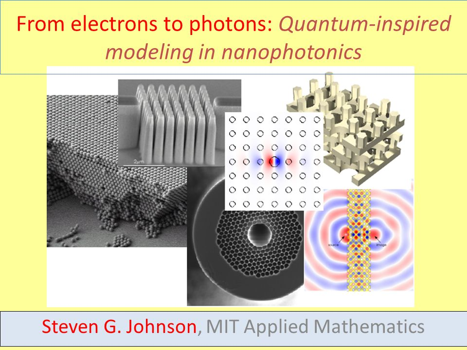 8 From electrons to photons: Quantum-inspired modeling in nanophotonics Steven G.