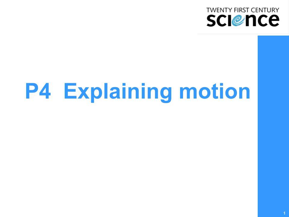 1 P4 Explaining motion