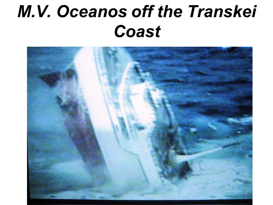M.V. Oceanos off the Transkei Coast