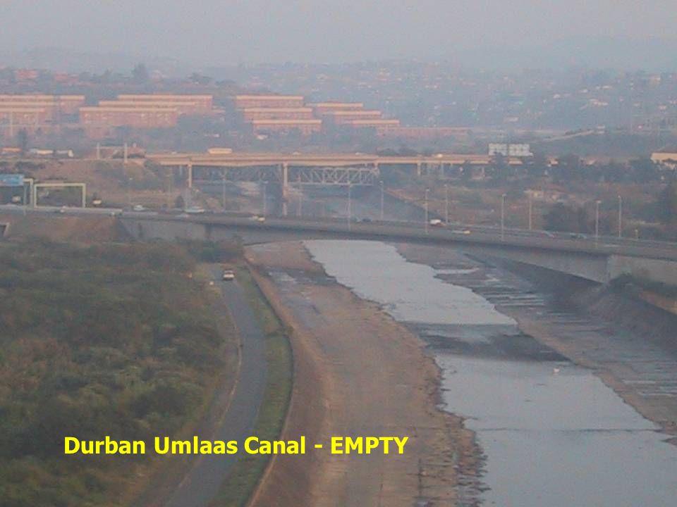 Durban Umlaas Canal - EMPTY