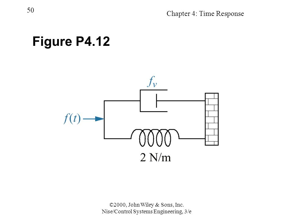 Chapter 4: Time Response 50 ©2000, John Wiley & Sons, Inc. Nise/Control Systems Engineering, 3/e Figure P4.12