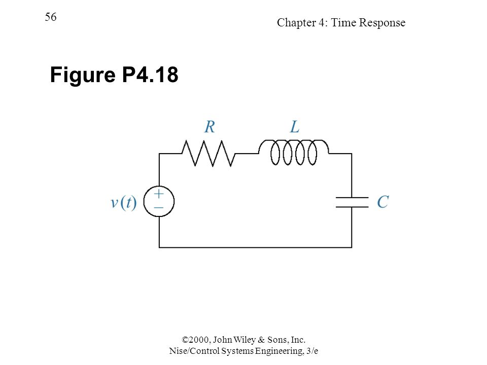 Chapter 4: Time Response 56 ©2000, John Wiley & Sons, Inc. Nise/Control Systems Engineering, 3/e Figure P4.18