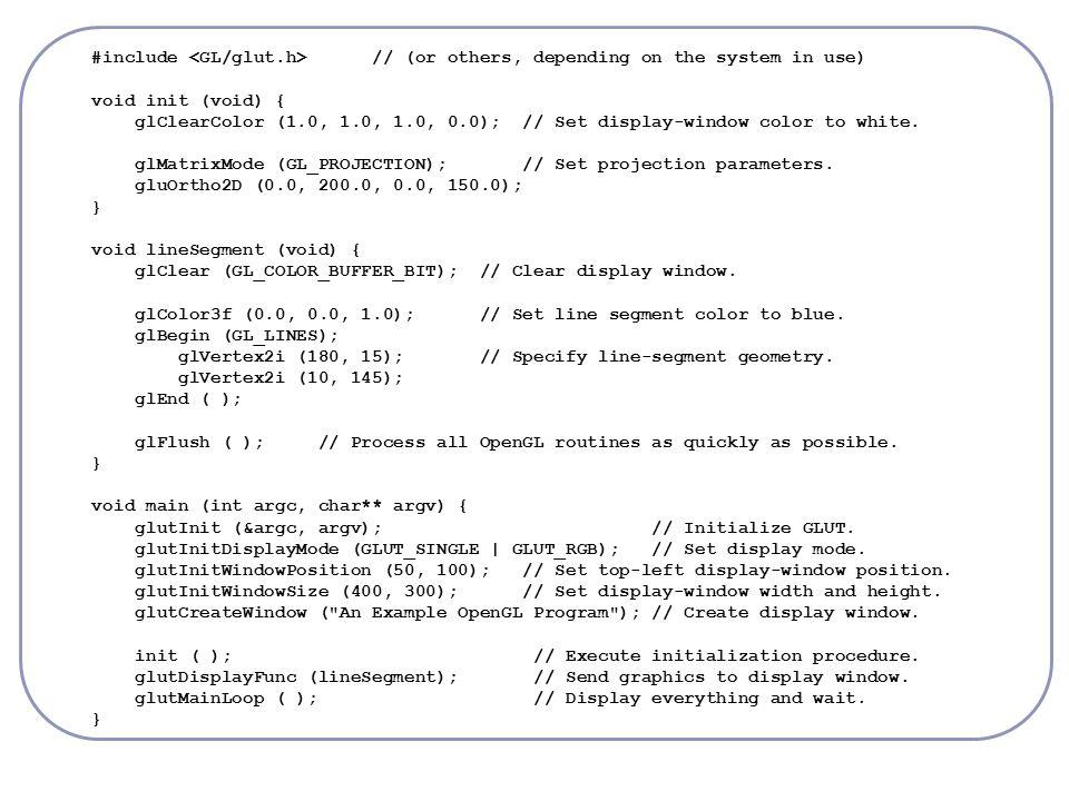 OpenGL – Transformations Matrix Stack glPushMatrix (); glPopMatrix ();