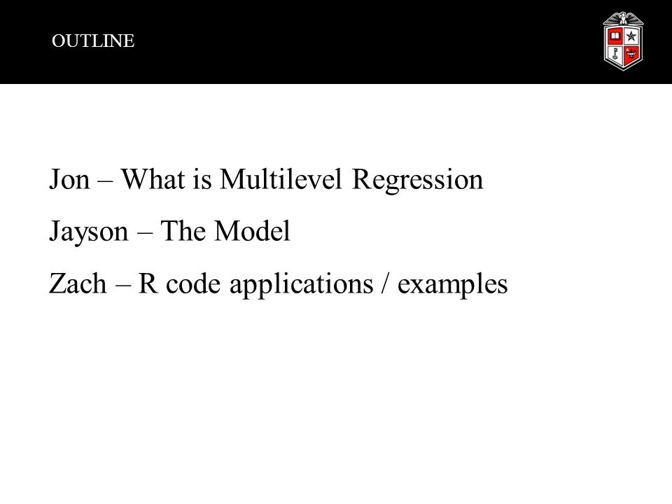 WHAT IS MULTILEVEL REGRESSION Regression models at multiple levels, because of dependencies in nested data Not two stage, this occurs all at once