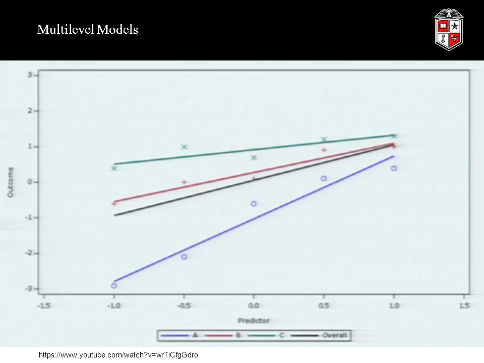 Multilevel Models https://www.youtube.com/watch?v=wrTiCfgGdro