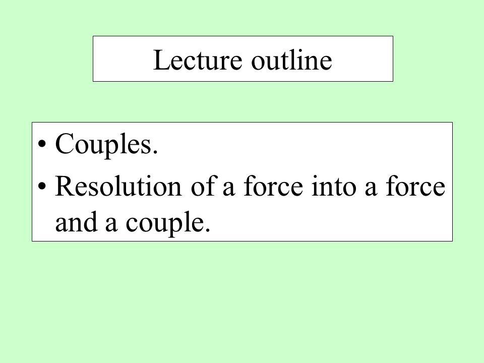 Class Assignment: Exercise set 4-81 please submit to TA at the end of the lecture Determine the moment of the couple shown in Fig.P4-81 and the perpendicular distance between the two forces.