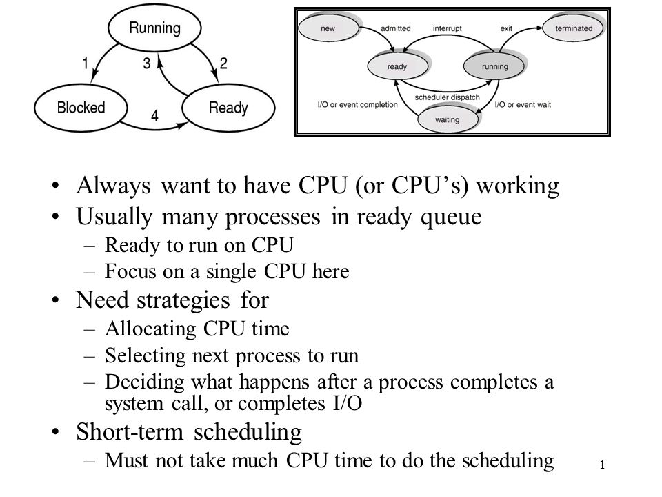 CFS, continued We may not be able to have one CPU run things simultaneously, but we can measure how much runtime each task has had and try and ensure that everyone gets their fair share of time.