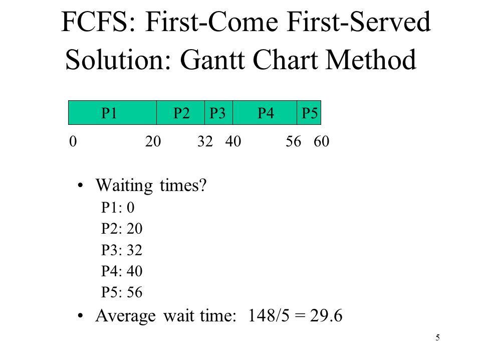 Scheduling in Existing Systems: Linux 2.5 kernel Priority-based, preemptive Two priority ranges (real time and nice) Time quantum longer for higher priority processes (ranges from 10ms to 200ms) Tasks are runnable while they have time remaining in their time quantum; once exhausted, must wait until others have exhausted their time quantum