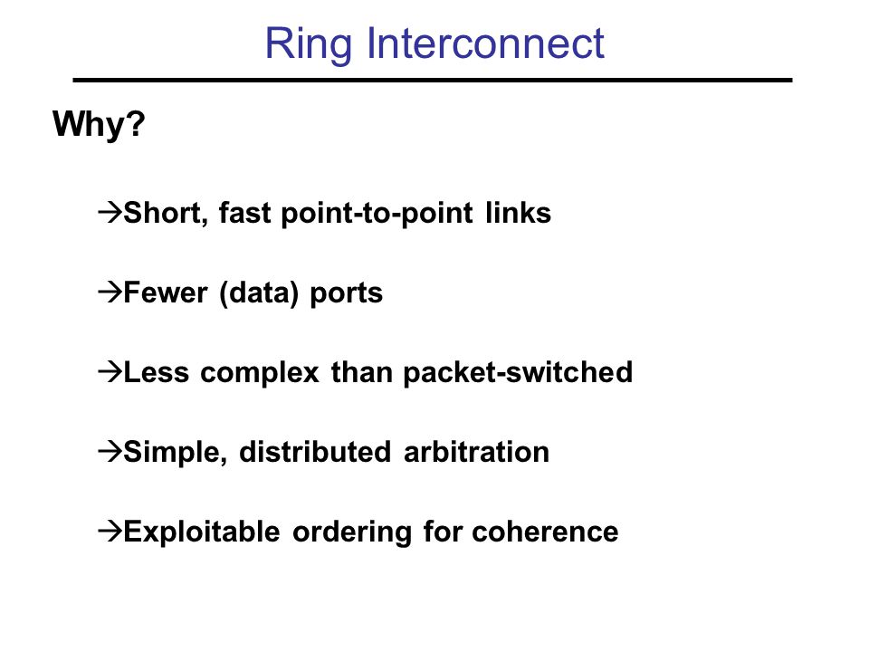 Ring Interconnect Why.