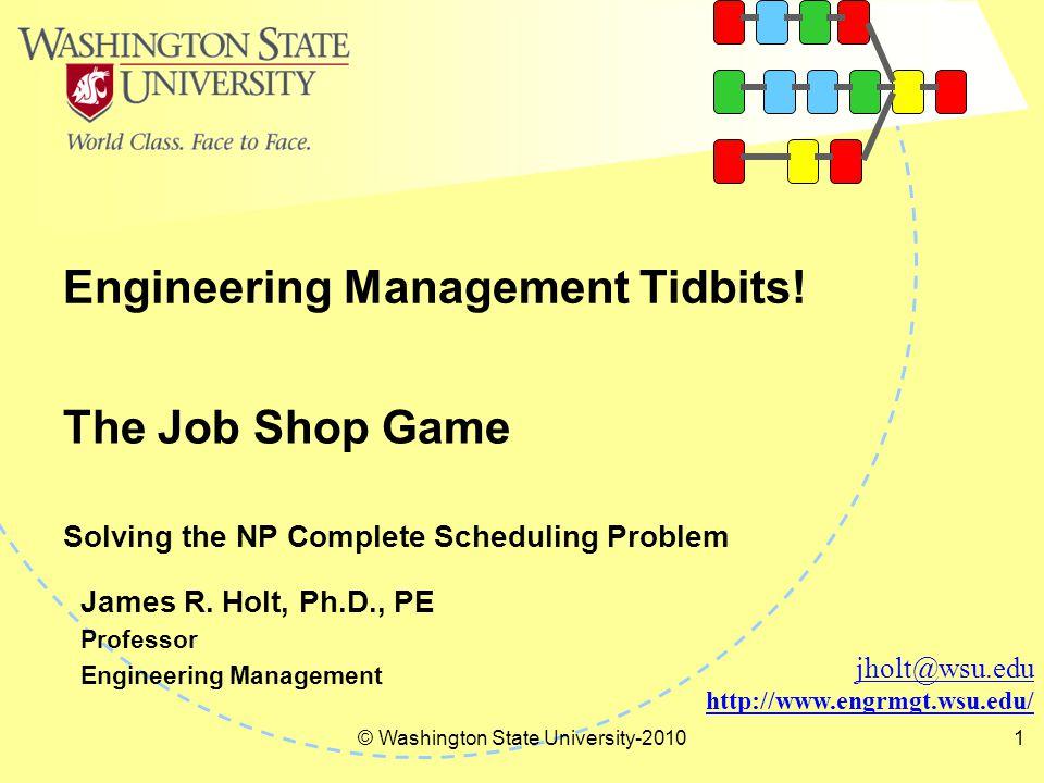 Engineering Management Tidbits.