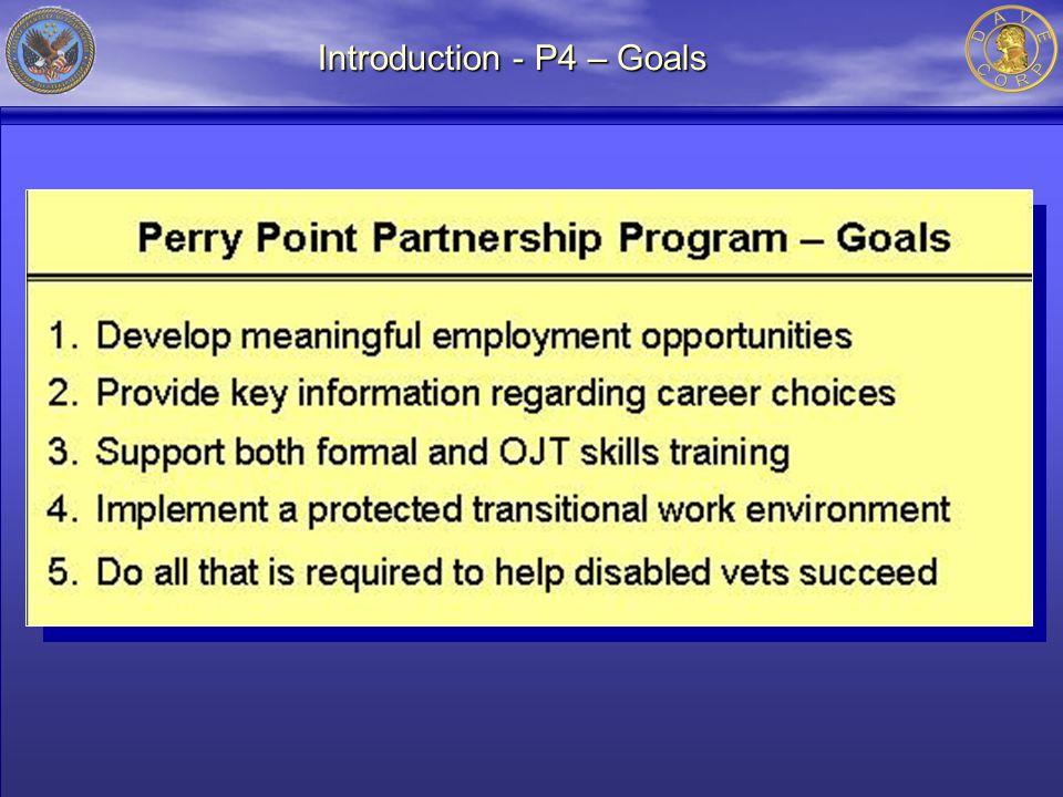 Introduction - P4 – Goals