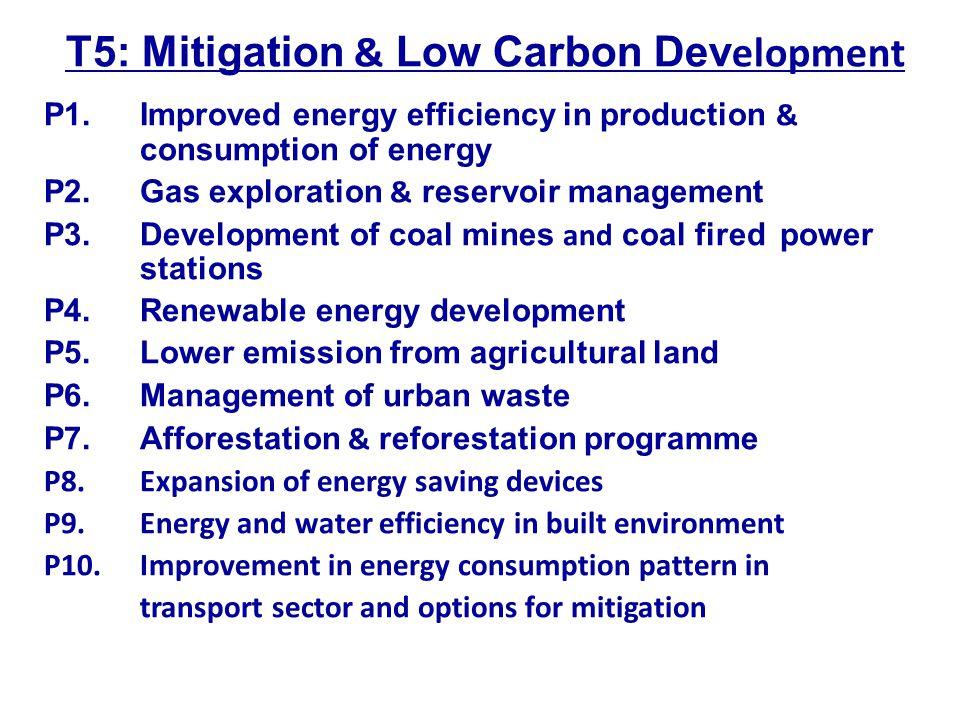 T5: Mitigation & Low Carbon Dev elopment P1.