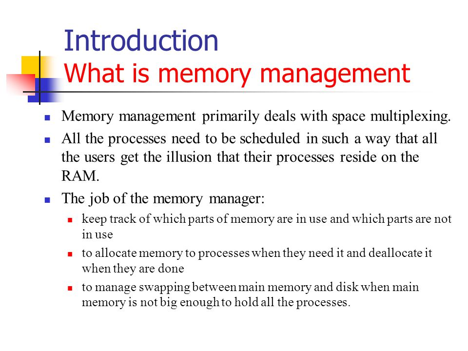 Related Problems Redundancy Problem Usually the combined size of all processes is much bigger than the RAM size and for this reason processes are swapped in and out continuously.