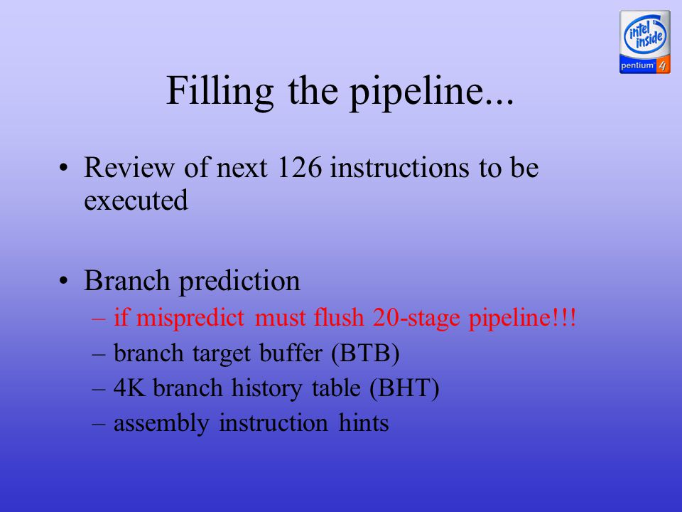 Filling the pipeline...