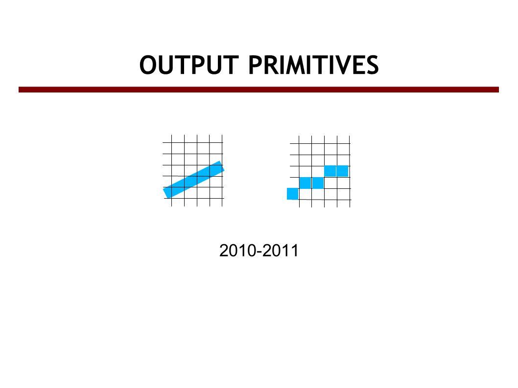 OUTPUT PRIMITIVES 2010-2011