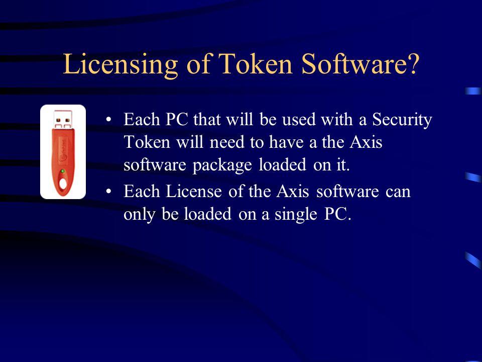 Licensing of Token Software.