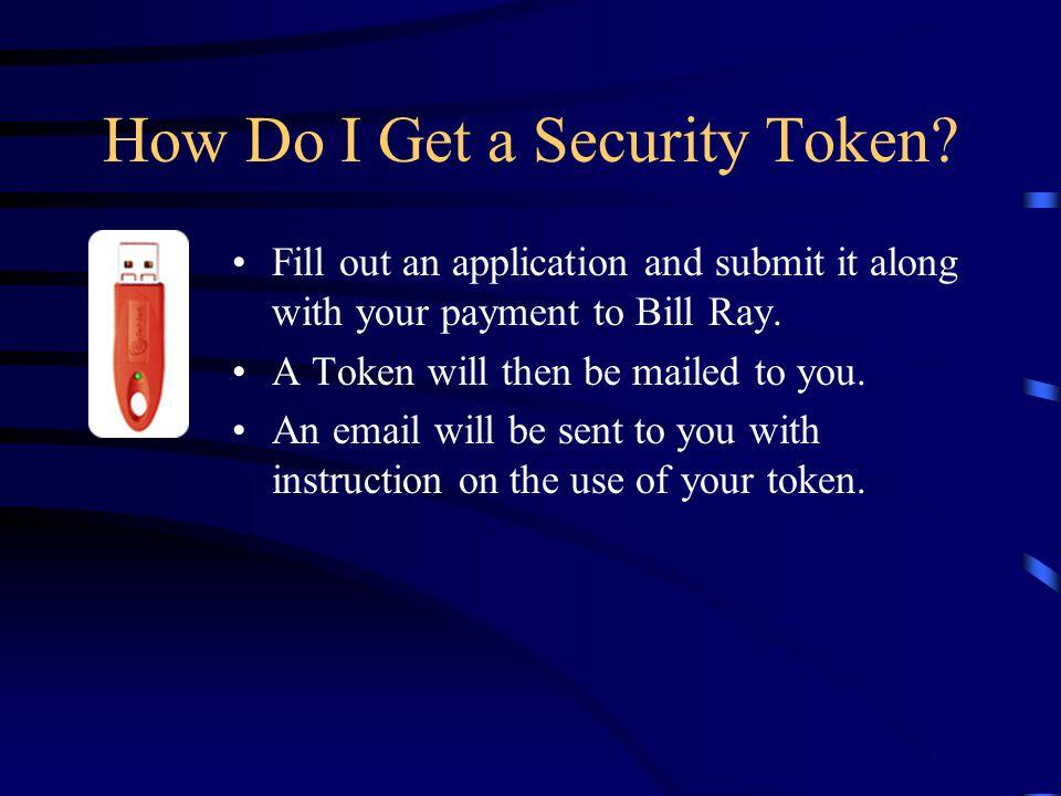 How Do I Get a Security Token.
