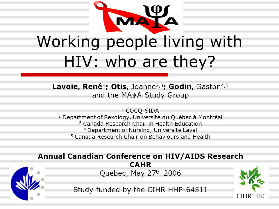 Working people living with HIV: who are they.