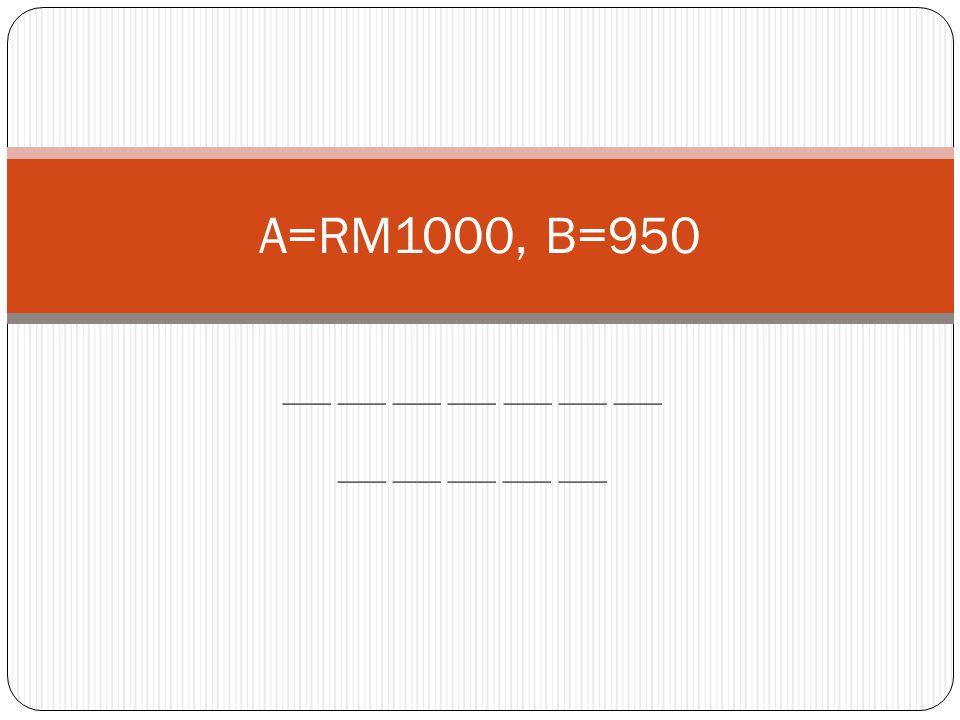 ___ ___ ___ ___ ___ ___ ___ ___ ___ ___ ___ ___ A=RM1000, B=950