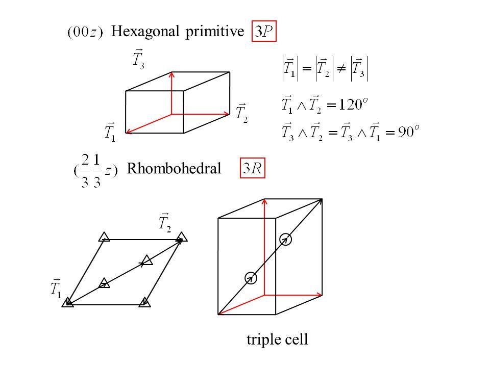 Hexagonal primitive Rhombohedral triple cell
