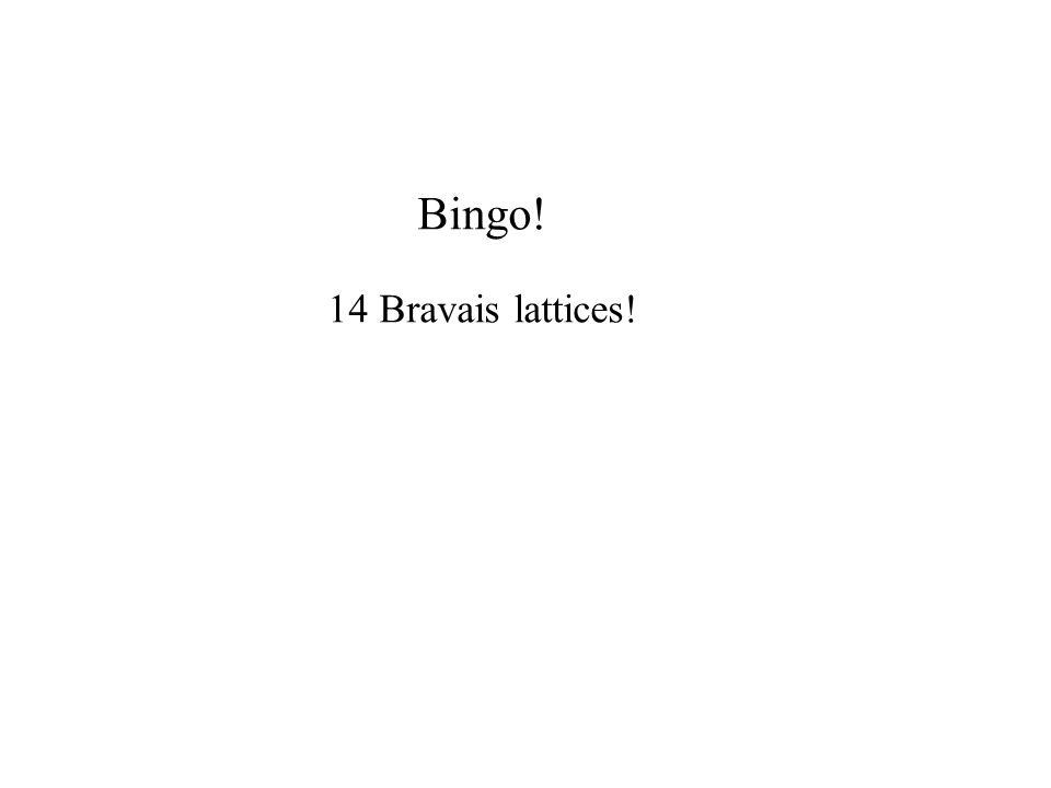 Bingo! 14 Bravais lattices!