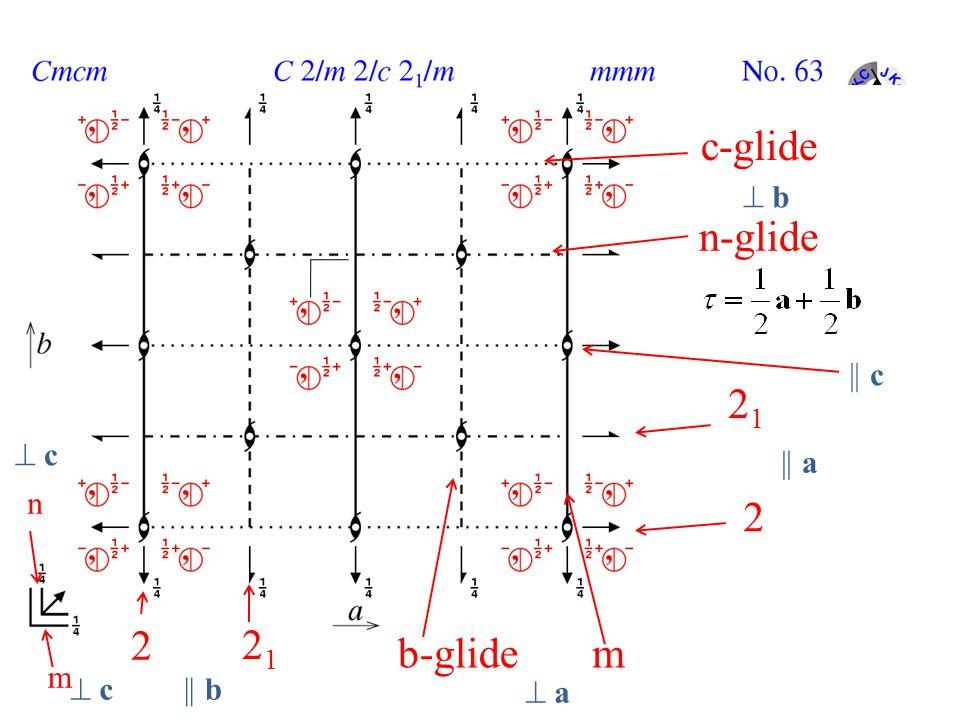 mb-glide 2 2121 2 2121 n-glide c-glide    b  a a m n    a  b b  c c  c c    c