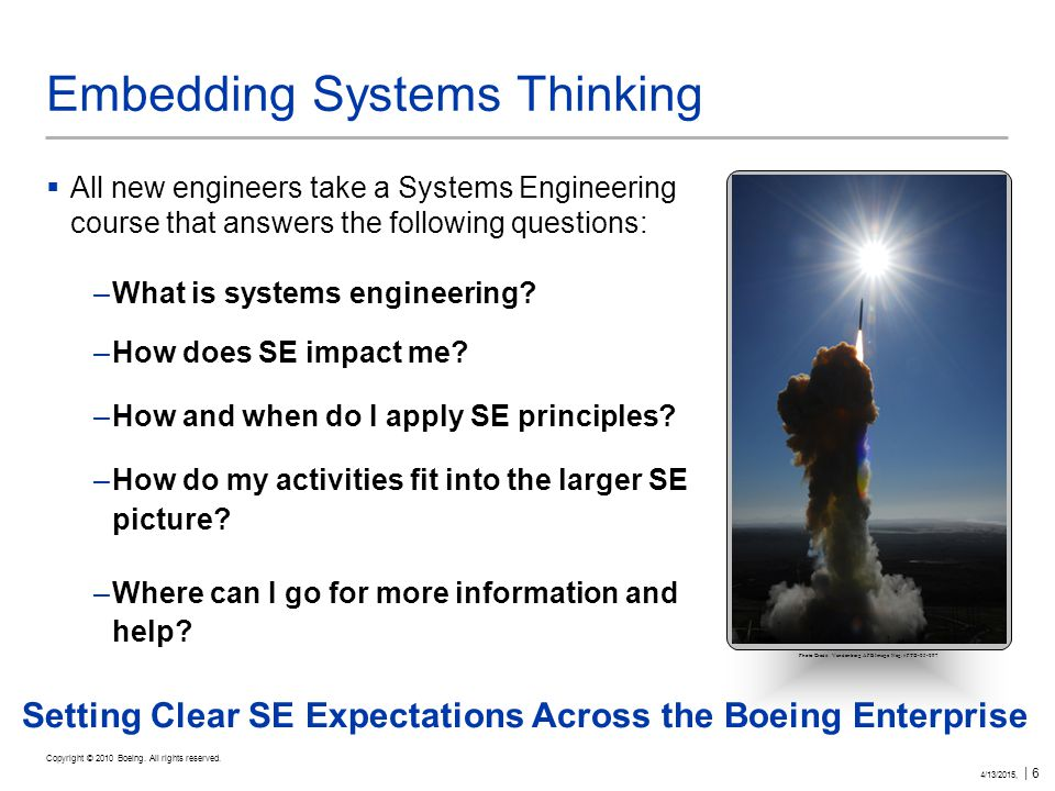 Copyright © 2010 Boeing. All rights reserved.