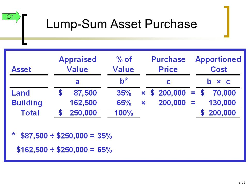 Lump-Sum Asset Purchase C1 8-11