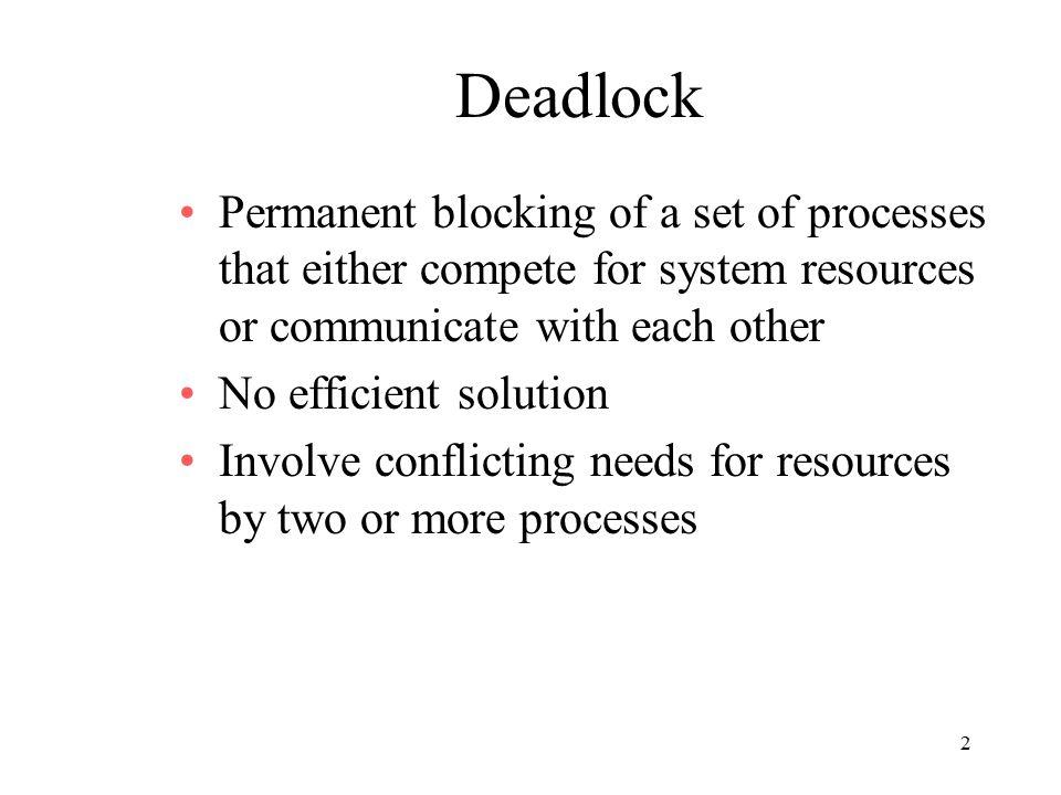 33 Banker's Algorithm [A Deadlock Avoidance Algorithm] The Algorithm: 1.Process i makes requests for resources.