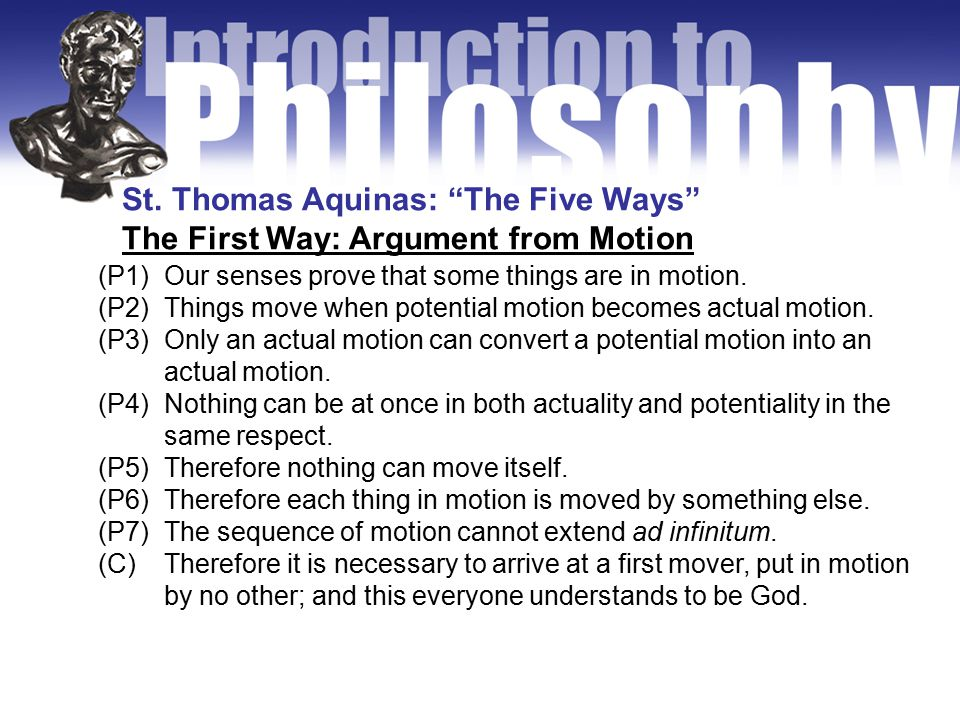 The Second Way: Argument from Efficient Causes (P1)We perceive a series of efficient causes of things in the world.
