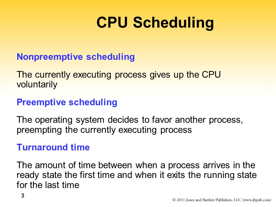 SRPT example ProcessArrival TimeRemainingCompletion TimeTurnaround p100215 p240011575 p3500660610 p43000940 p53150440125 040115215 p1p2p1 315 p3 440 p5p3 660 p4 940 