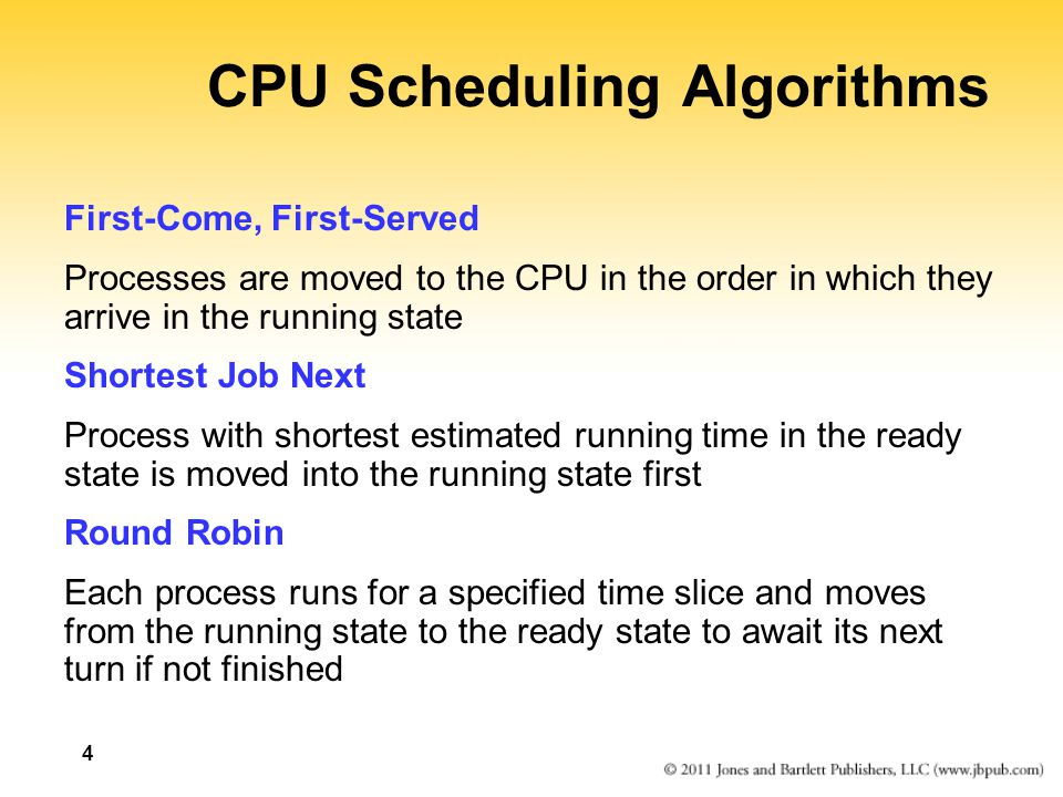 First-Come, First-Served ProcessArrival TimeService TimeCompletion TimeTurnaround p10140 p24075 p350320 p4300280 p5315125 0140 p1 