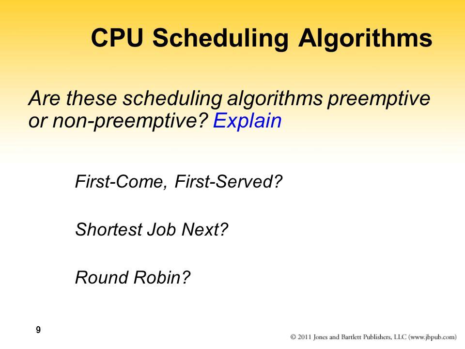 SRPT example ProcessArrival TimeRemainingCompletion TimeTurnaround p10100 p240011575 p350320 p4300280 p5315125 040115 p1p2p1 