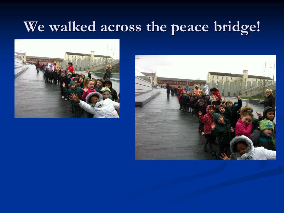 We walked across the peace bridge!