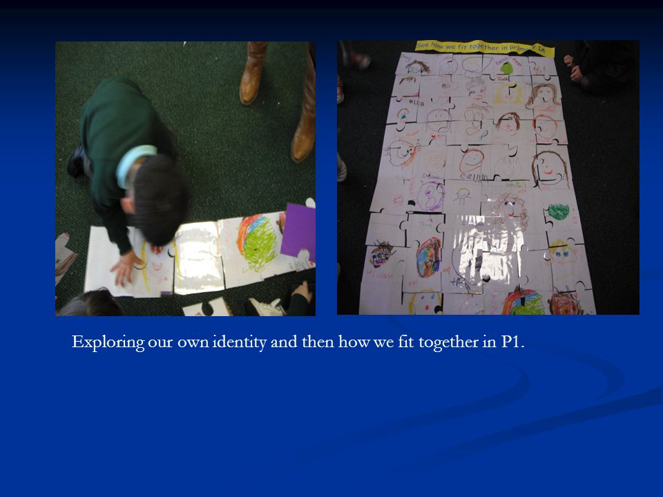 Exploring our own identity and then how we fit together in P1.