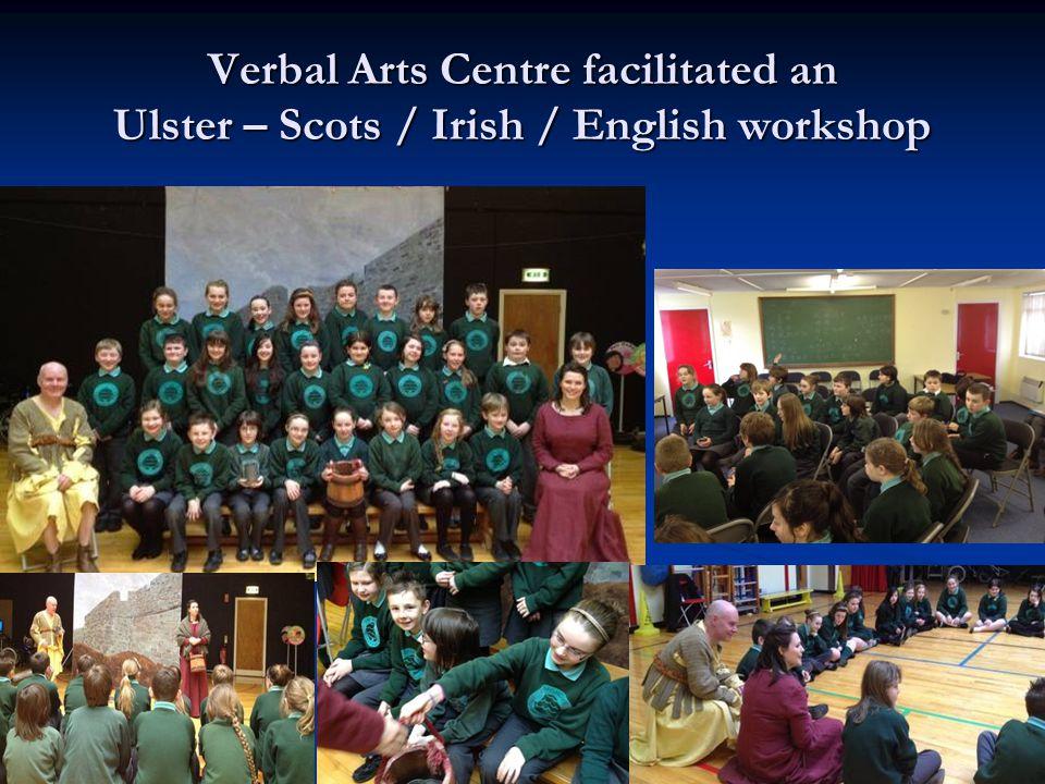 Verbal Arts Centre facilitated an Ulster – Scots / Irish / English workshop