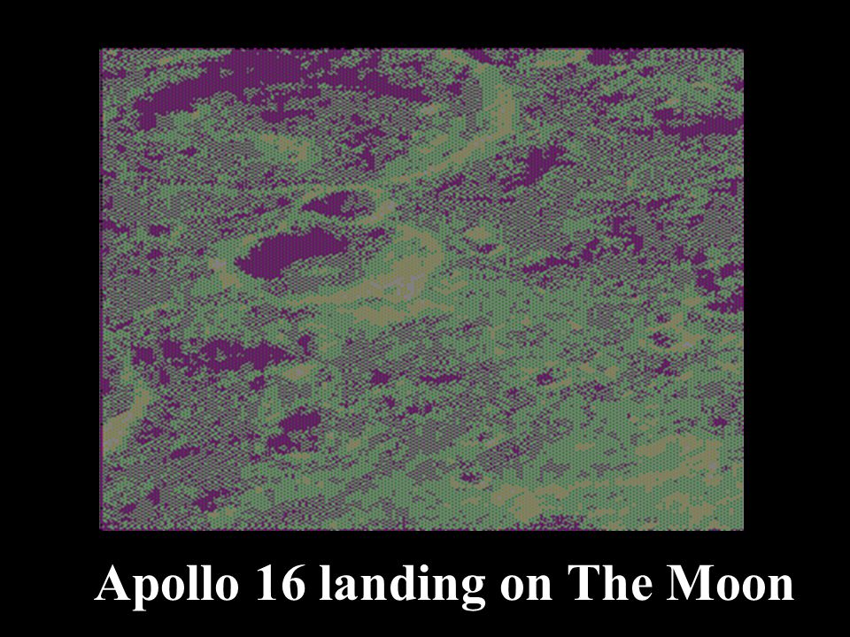 Apollo 16 landing on The Moon