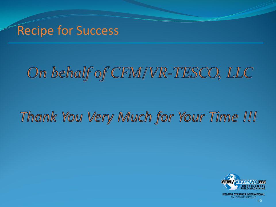 Recipe for Success 42