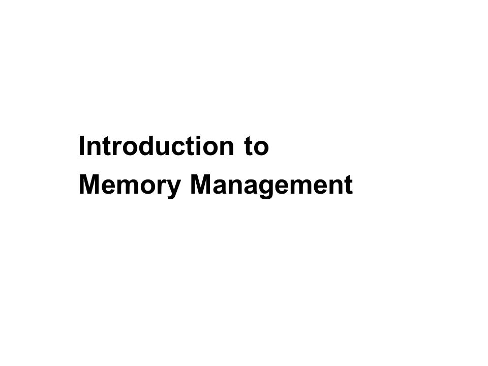2 General Structure of Run-Time Memory