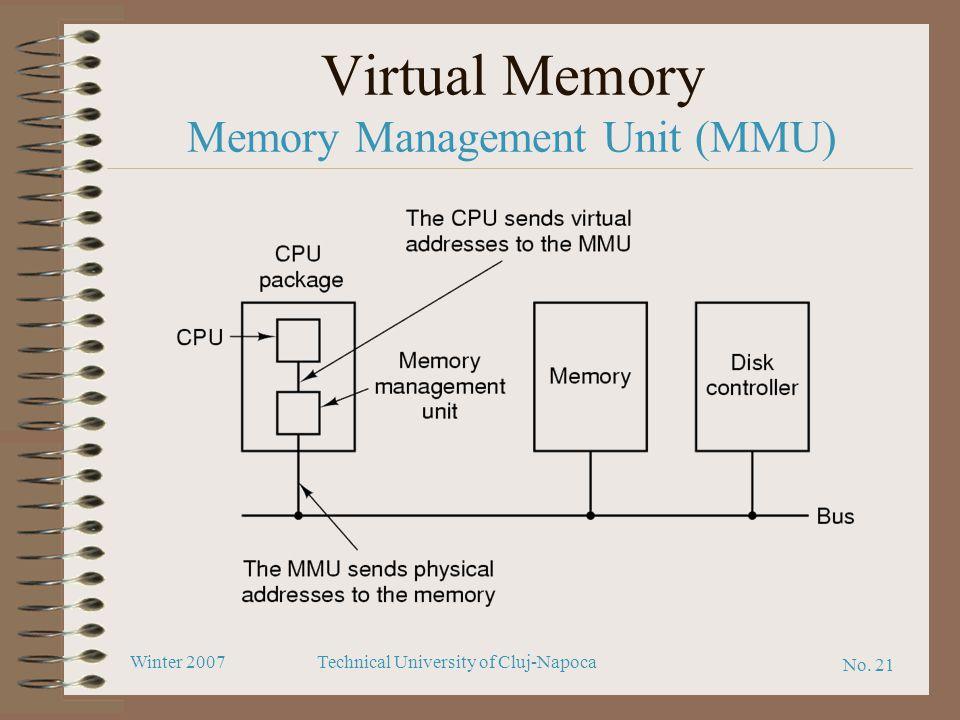 No. 21 Winter 2007Technical University of Cluj-Napoca Virtual Memory Memory Management Unit (MMU)