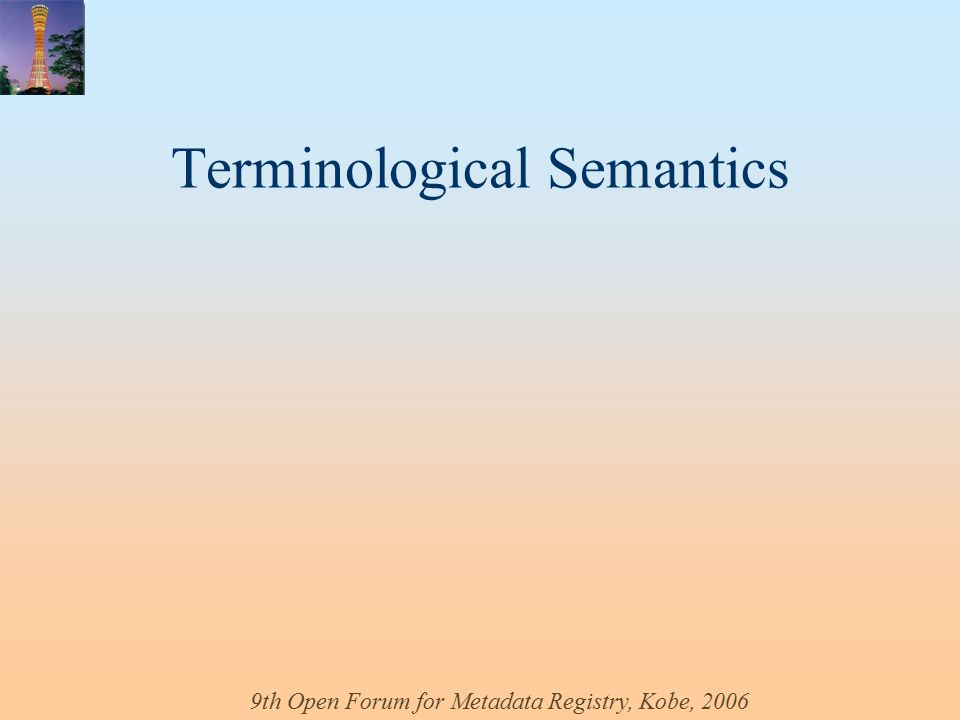 Terminological Semantics