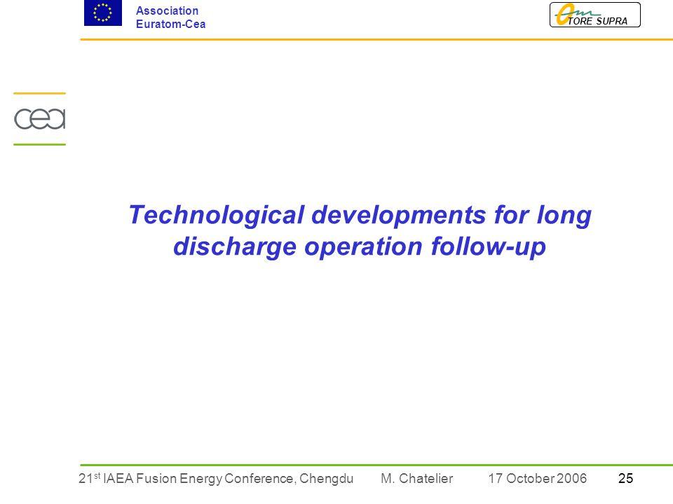 2521 st IAEA Fusion Energy Conference, Chengdu TORE SUPRA Association Euratom-Cea M.