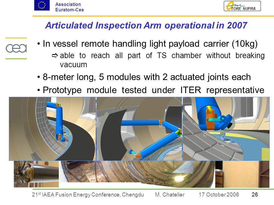 2621 st IAEA Fusion Energy Conference, Chengdu TORE SUPRA Association Euratom-Cea M.