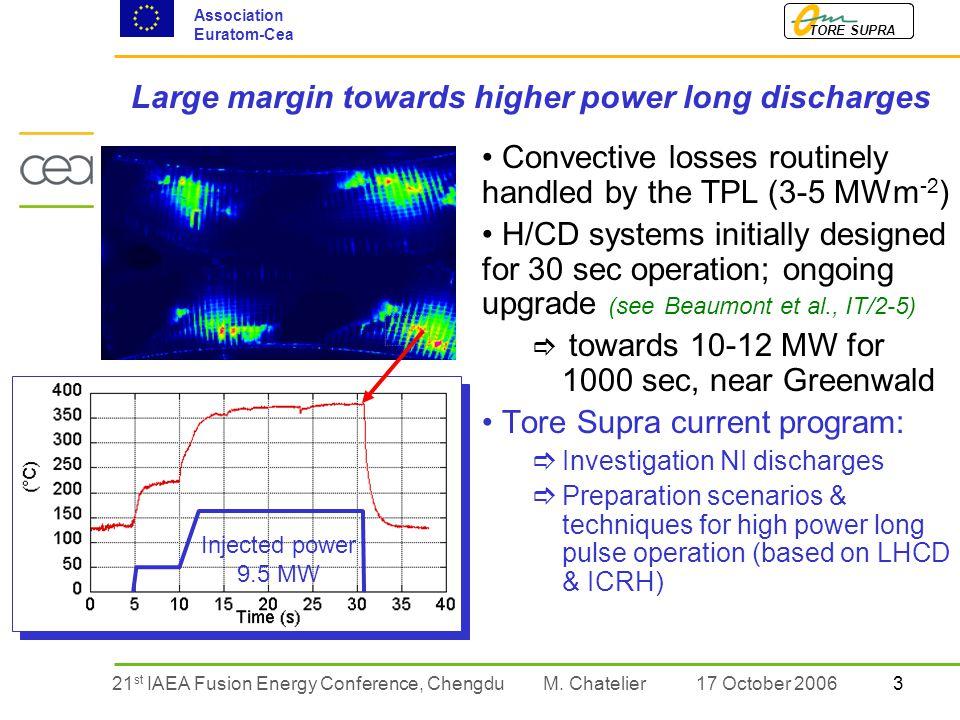 321 st IAEA Fusion Energy Conference, Chengdu TORE SUPRA Association Euratom-Cea M.