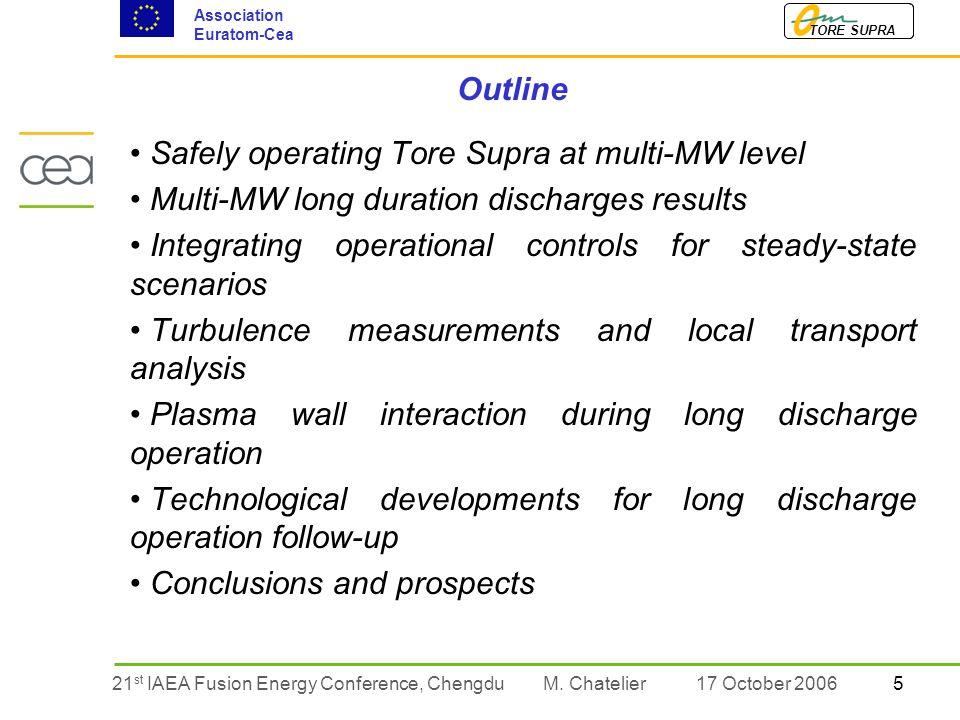 521 st IAEA Fusion Energy Conference, Chengdu TORE SUPRA Association Euratom-Cea M.
