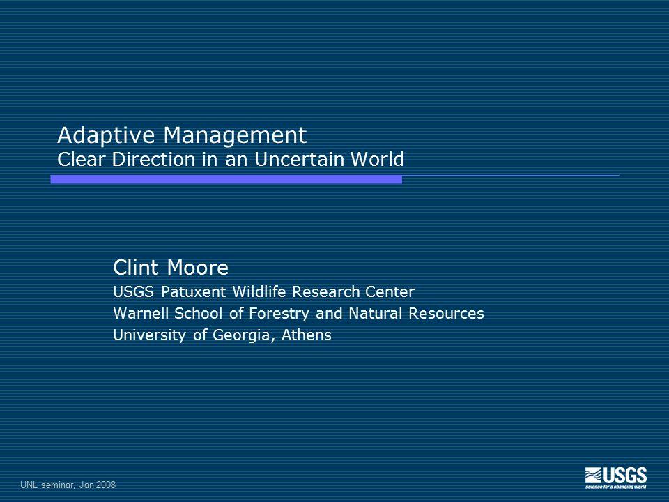 UNL seminar, Jan 2008 Forest harvest scheduling Stage transition model P1 0-16 yr UH P2 16-40 yr P3 40-80 yr P4 80+ yr 11 55 51 15 21 12 14 54 13 53 22 33 44 32 43 52
