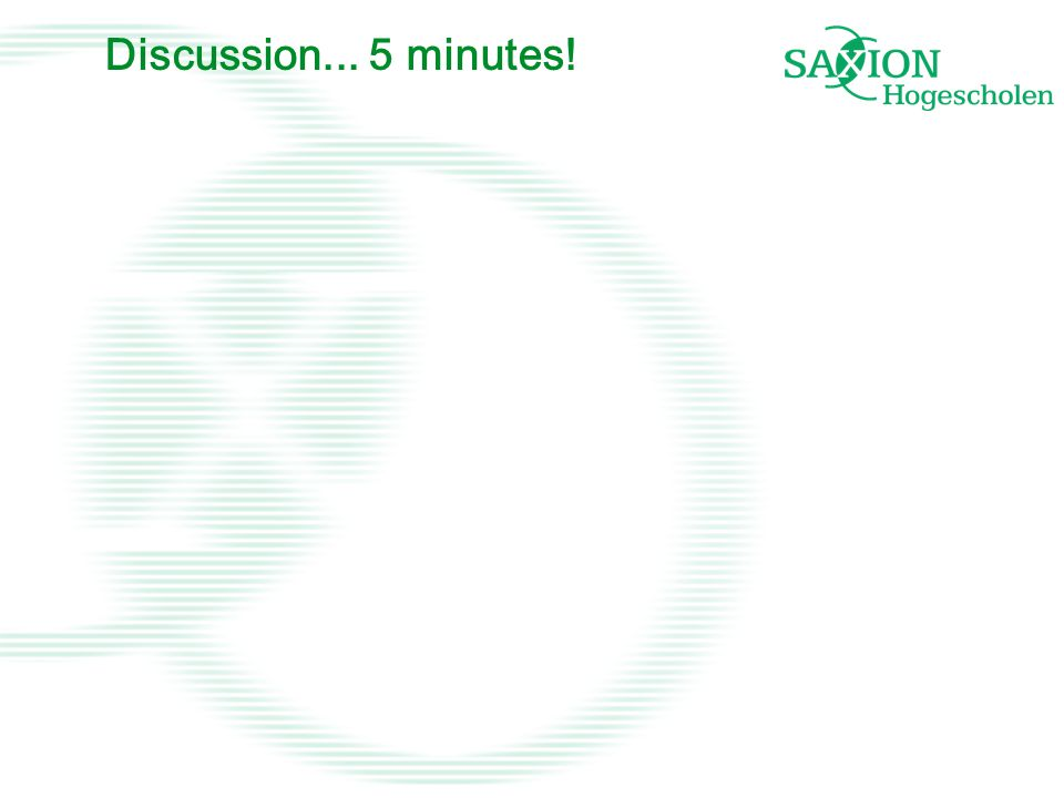 Discussion... 5 minutes!