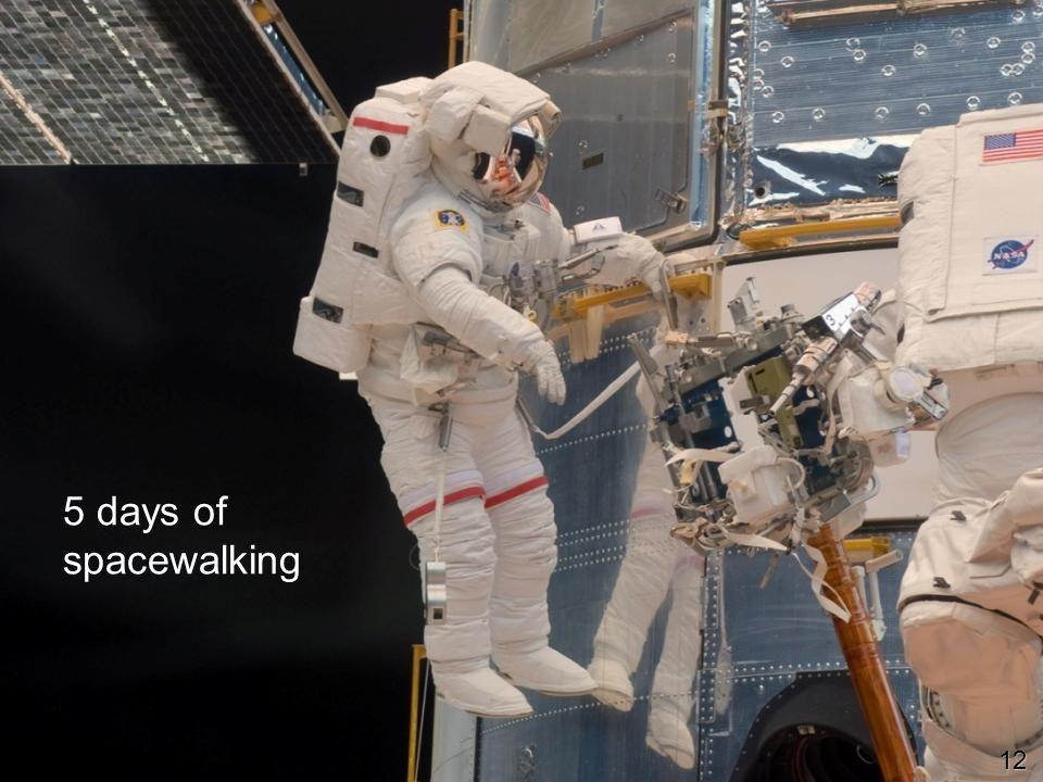 5 days of spacewalking 12